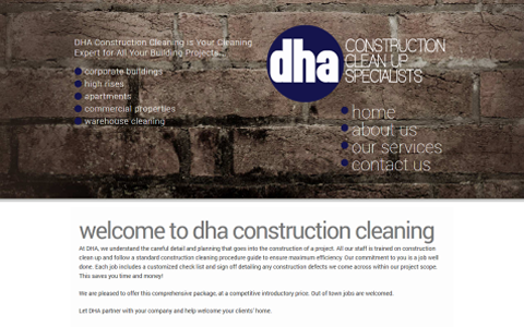 DHA Construction Clean Up