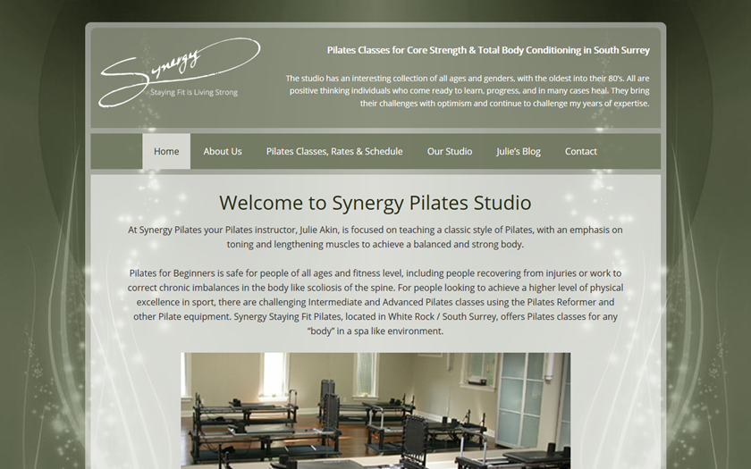 Synergy-Staying Fit Pilates 2.0